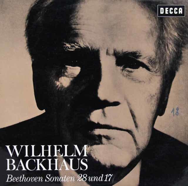 バックハウスのベートーヴェン/ピアノソナタ第28&17番「テンペスト」 独DECCA 3033 LP レコード