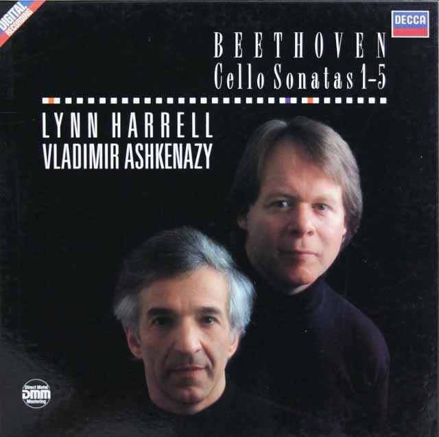 ハリル&アシュケナージのベートーヴェン/チェロソナタ全集 独DECCA 3033 LP レコード