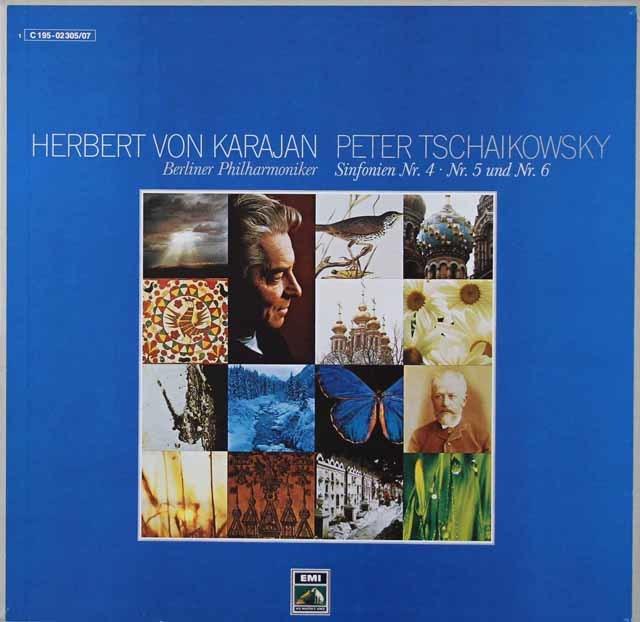 カラヤンのチャイコフスキー/交響曲第4~6番「悲愴」 独EMI 3036 LP レコード