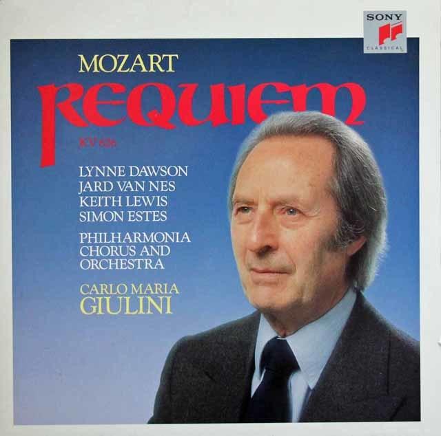 ジュリーニのモーツァルト/レクイエム 蘭SONY 3033 LP レコード