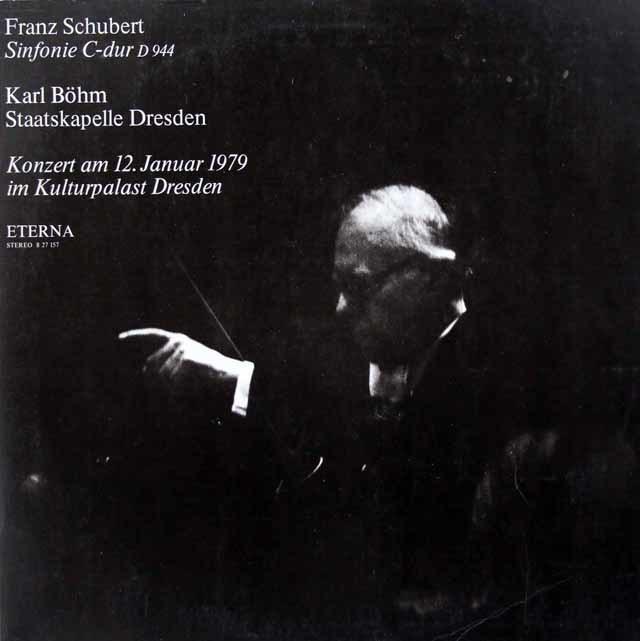 ベームのシューベルト/交響曲第9番「グレイト」 独ETERNA 3023 LP レコード