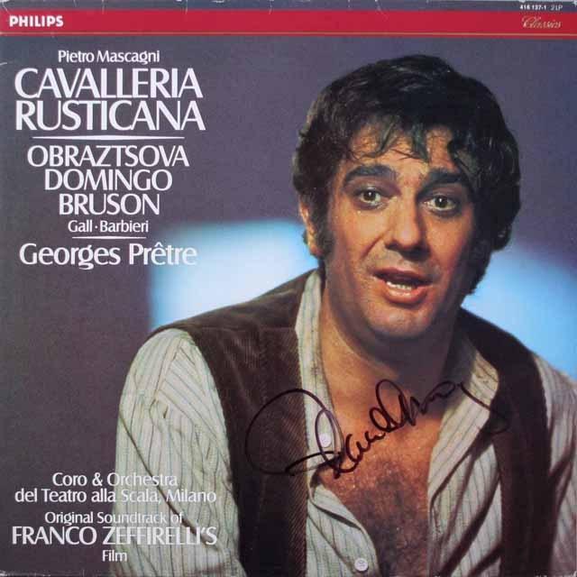 ドミンゴの「カヴァレリア・ルスティカーナ」(直筆サイン入り) 蘭PHILIPS 2617 LP レコード