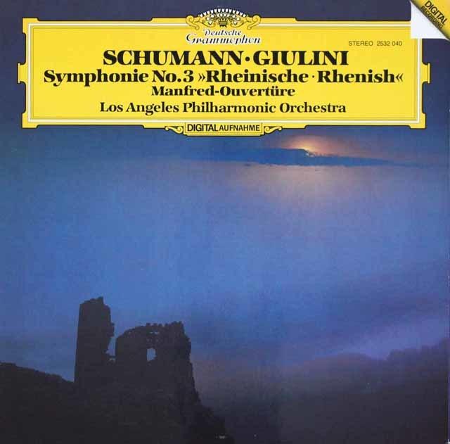 ジュリーニのシューマン/交響曲第3番「ライン」ほか 独DGG 3023 LP レコード