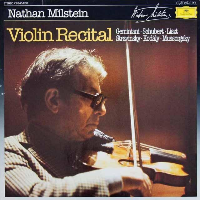ミルシュタインのヴァイオリン・リサイタル 独DGG 2920 LP レコード