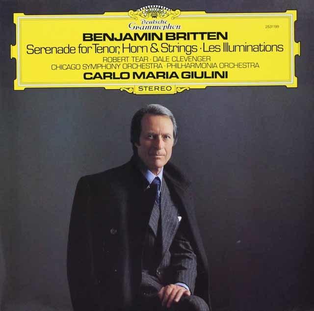 ジュリーニのブリテン/テノール、ホルンと弦楽のための「セレナード」ほか 独DGG 3023 LP レコード