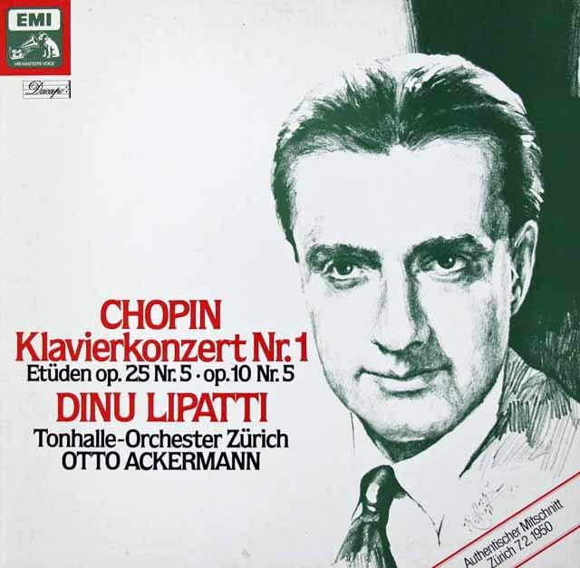 リパッティ&アッカーマンのショパン/ピアノ協奏曲第1番 独EMI 3036 LP レコード
