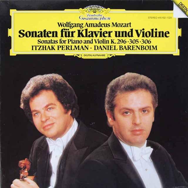 パールマン&バレンボイムのモーツァルト/ヴァイオリン・ソナタ第17、22&29番 独DGG 3282 LP レコード