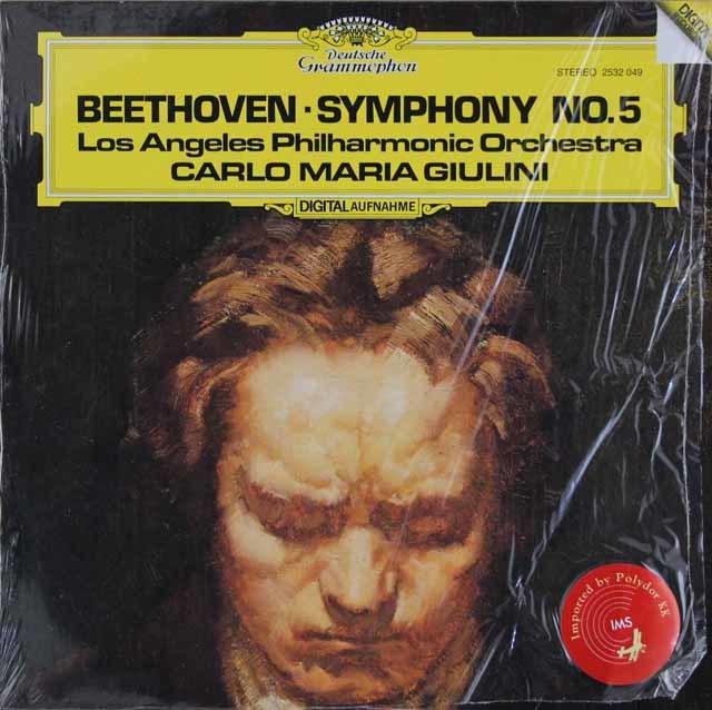ジュリーニのベートーヴェン/交響曲第5番「運命」 独DGG 3023 LP レコード