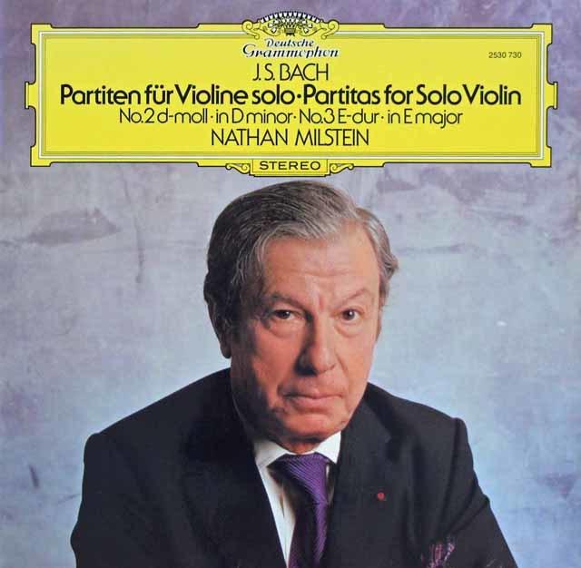 ミルシュタインのバッハ/無伴奏ヴァイオリン・パルティータ第2(シャコンヌ)&3番 独DGG 3023 LP レコード
