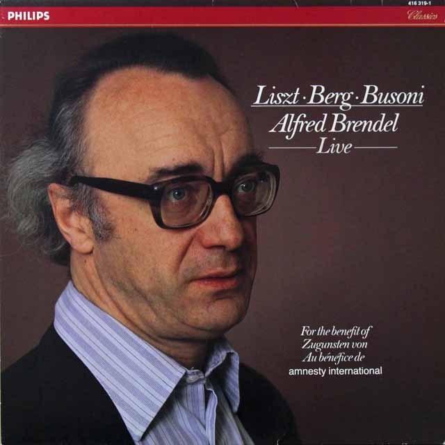ブレンデルのリスト、ベルク&ブゾーニ小品集(ライヴ録音) 蘭PHILIPS 3221 LP レコード