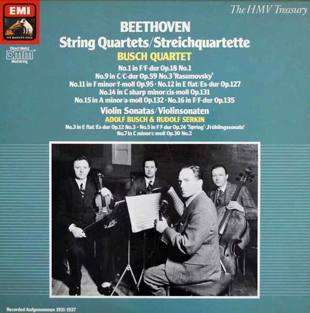 ブッシュ四重奏団のベートーヴェン/弦楽四重奏曲集 独EMI 3023 LP レコード