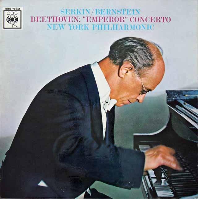 ゼルキン&バーンスタインのベートーヴェン/ピアノ協奏曲第5番「皇帝」 英CBS 3399 LP レコード
