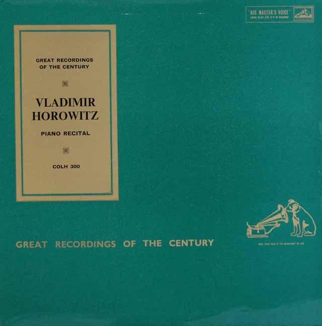 ホロヴィッツのリサイタル 英EMI 3284 LP レコード
