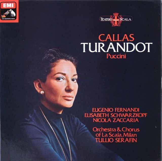 カラスのプッチーニ/「トゥーランドット」全曲 英EMI 3036 LP レコード