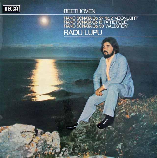 【オリジナル盤】ルプーのベートーヴェン/ピアノソナタ「月光」ほか 英DECCA 2905 LP レコード