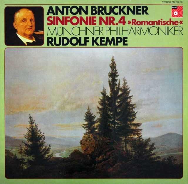 【オリジナル盤】 ケンペのブルックナー/交響曲第4番「ロマンティック」 独BASF 3023 LP レコード