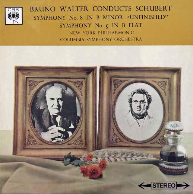 ワルターのシューベルト/交響曲第5番&第8番「未完成」 英CBS 2928 LP レコード