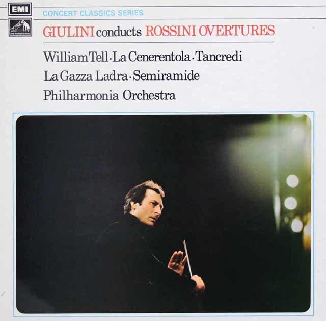 ジュリーニのロッシーニ/序曲集 英EMI 3033 LP レコード