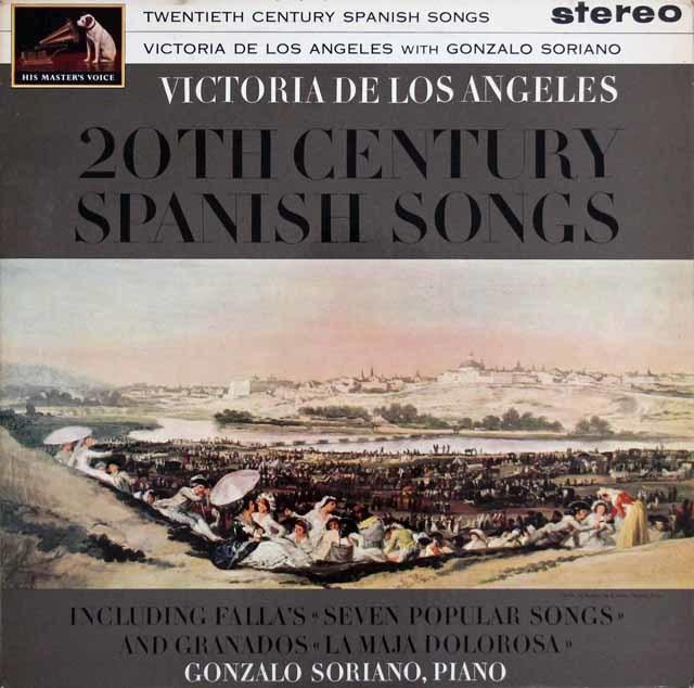 【オリジナル盤】ロス・アンヘレスの20世紀スペイン歌曲集 英EMI 3033 LP レコード