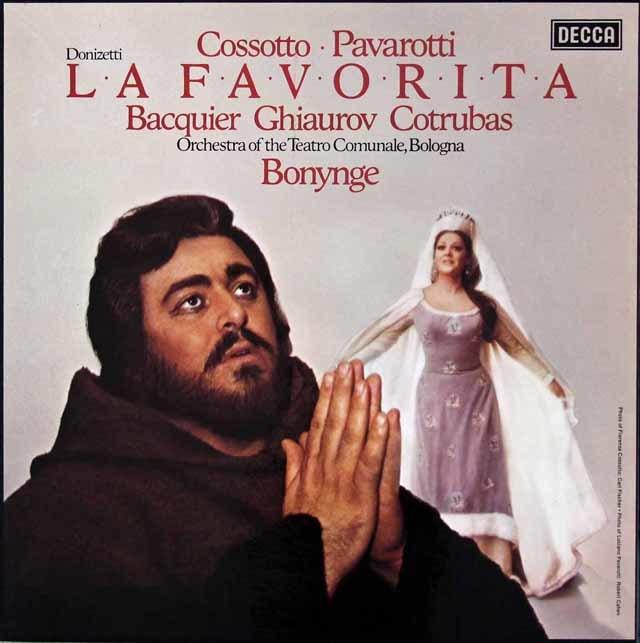パヴァロッティのドニゼッティ/「ラ・ファヴォリータ」全曲 英DECCA 3036 LP レコード