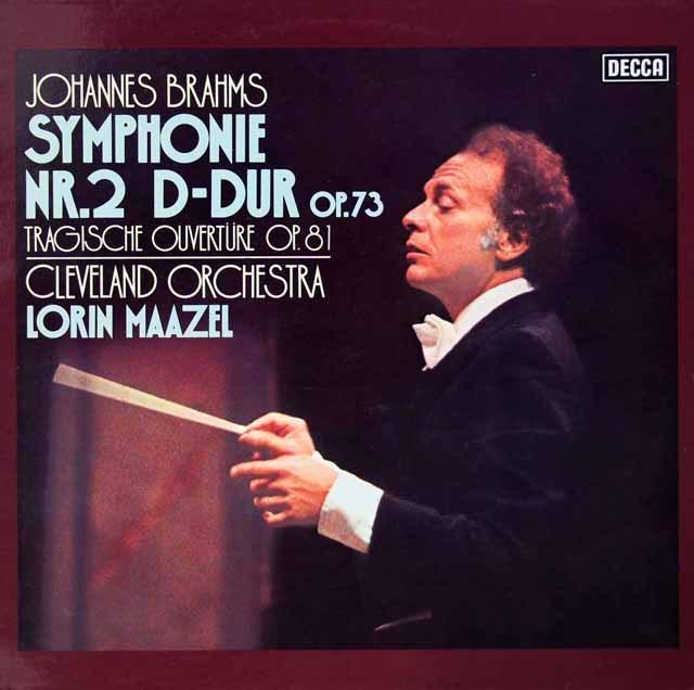 マゼールのブラームス/交響曲第2番ほか 独DECCA  3399 LP レコード
