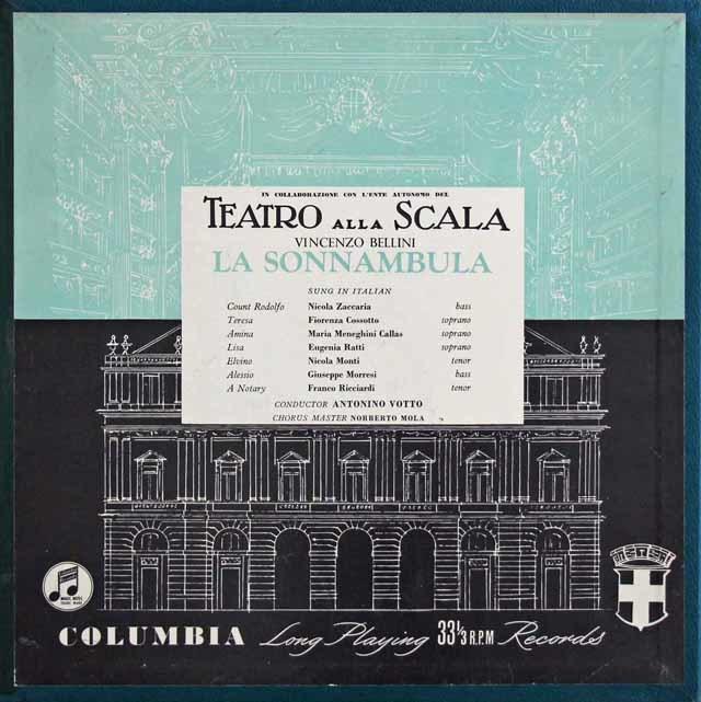 【オリジナル盤】カラスのベッリーニ/「夢遊病の女」全曲 英Columbia 3033 LP レコード