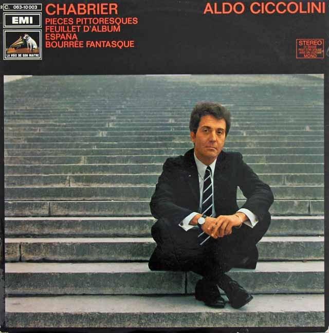 チッコリーニのシャブリエ/「10の絵画風小品集」ほか 仏EMI 3295 LP レコード