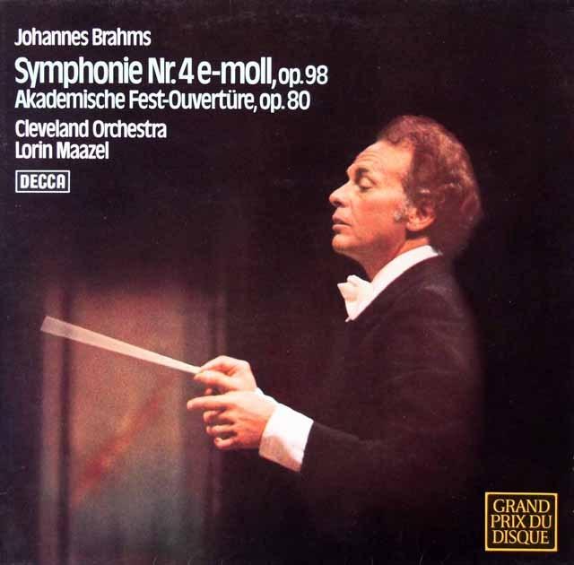 マゼールのブラームス/交響曲第4番ほか 独DECCA  3399 LP レコード