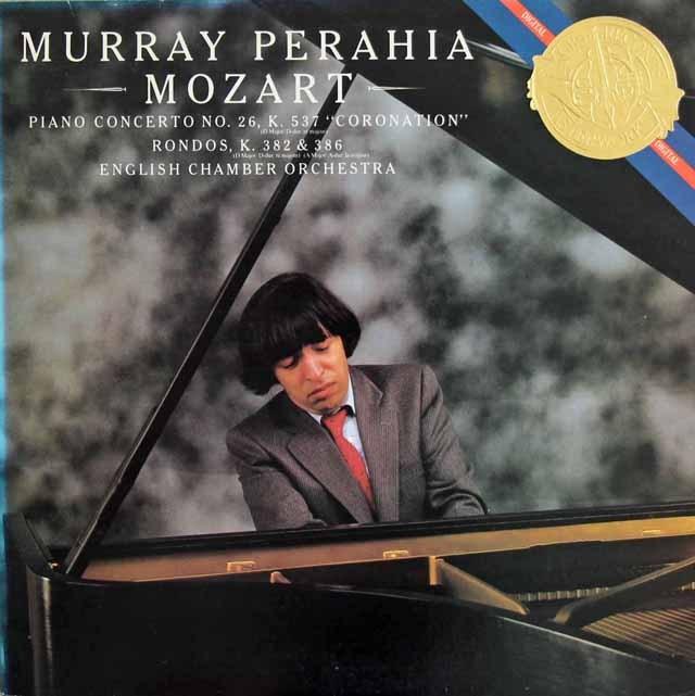 ペライアのモーツァルト/ピアノ協奏曲第26番「戴冠式」ほか CBS 2834 LP レコード