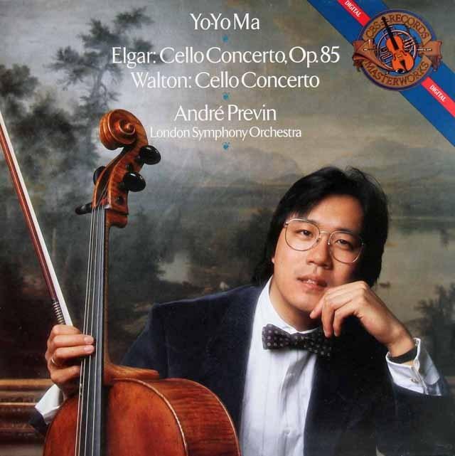 ヨーヨー・マ&プレヴィンのエルガー&ウォルトン/チェロ協奏曲集 蘭CBS 2834 LP レコード