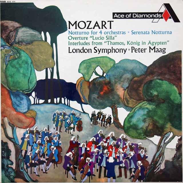 マークのモーツァルト/セレナーデ 第6番「セレナータ・ノットゥルナ」ほか 英DECCA 2928 LP レコード
