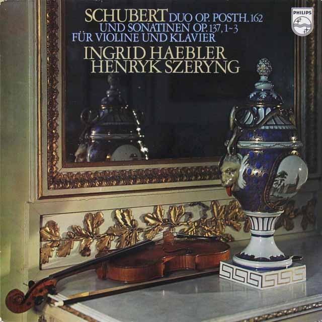 ヘブラー&シェリングのシューベルト/ヴァイオリンソナタ集 蘭PHILIPS 3222 LP レコード