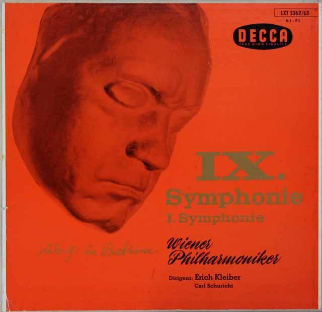 エーリヒ・クライバー&シューリヒトのベートーヴェン/交響曲第9&1番 独DECCA 3282 LP レコード