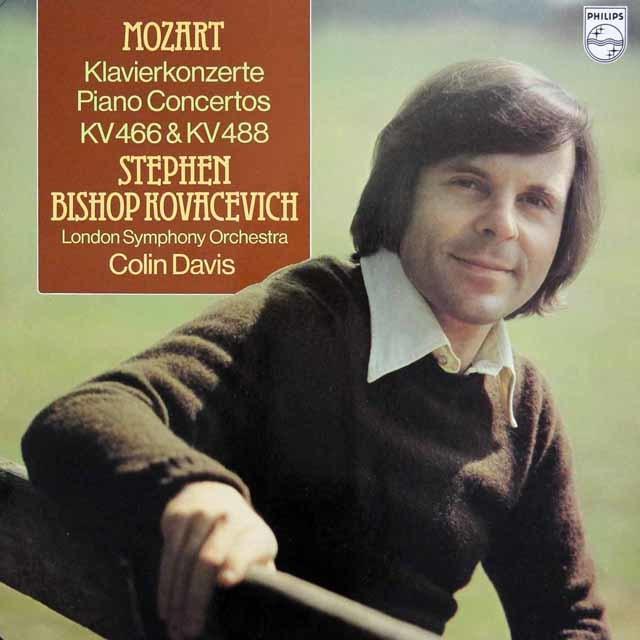 コヴァセヴィチ&デイヴィスのモーツァルト/ピアノ協奏曲第20&23番 蘭PHILIPS 3023 LP レコード