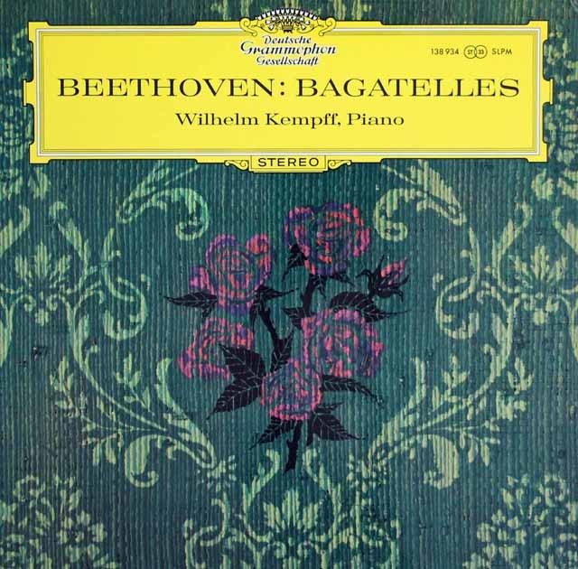 ケンプのベートーヴェン/バガテル集 独DGG 3284 LP レコード
