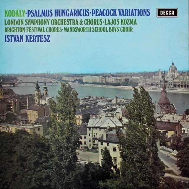【オリジナル盤】 ケルテスのコダーイ/「ヘンガリー詩編」ほか 英DECCA 3035 LP レコード