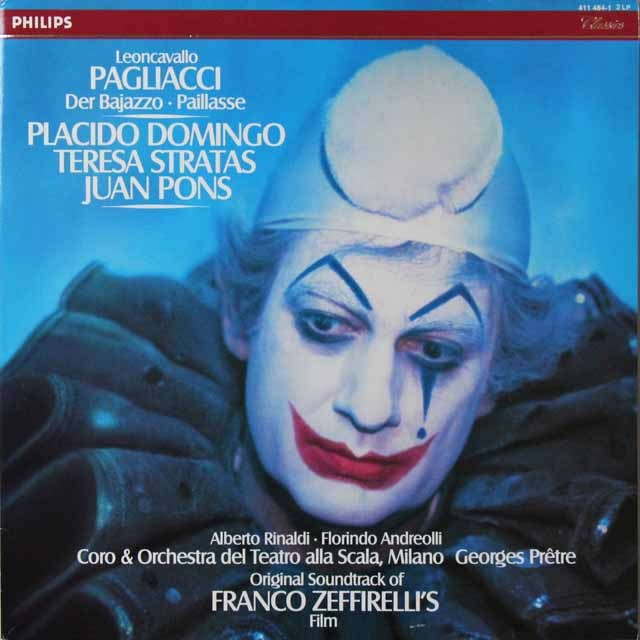 ドミンゴ&プレートルのレオンカヴァッロ/「道化師」 蘭PHILIPS  2705 LP レコード