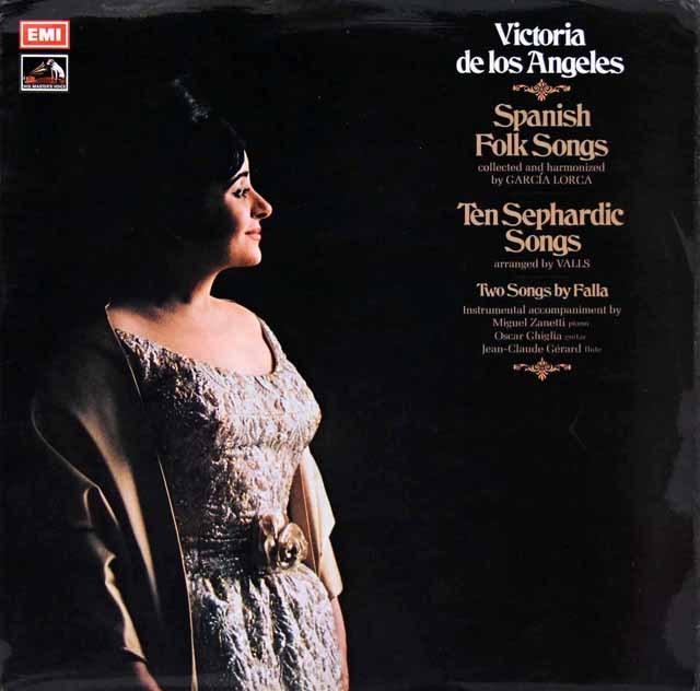 【オリジナル盤】ロス・アンヘレスの「スペインの民謡」ほか 英EMI 2928 LP レコード