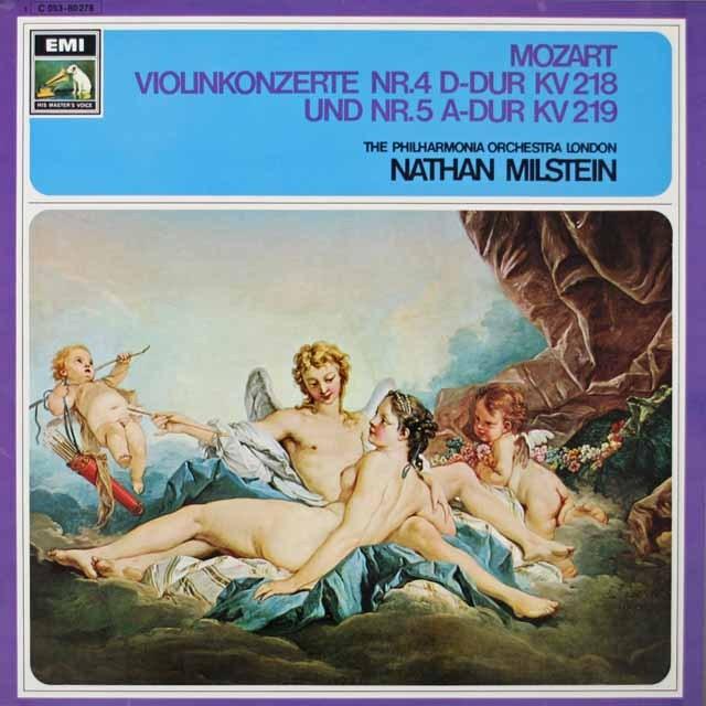 ミルシュタイン&ラインスドルフのモーツァルト/ヴァイオリン協奏曲第4&5番  独EMI  2634 LP レコード