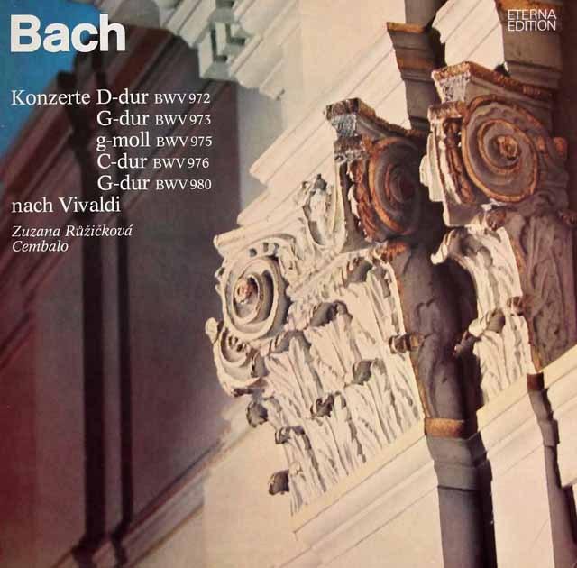 ルージチコヴァーのバッハ/協奏曲集 独ETERNA 3295 LP レコード