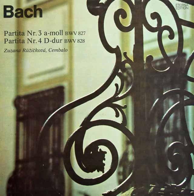 ルージチコヴァーのバッハ/パルティータ第3&4番 独ETERNA 3295 LP レコード