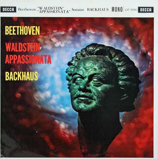 バックハウスのベートーヴェン/ピアノソナタ「ワルトシュタイン」&「熱情」 英DECCA 3035 LP レコード