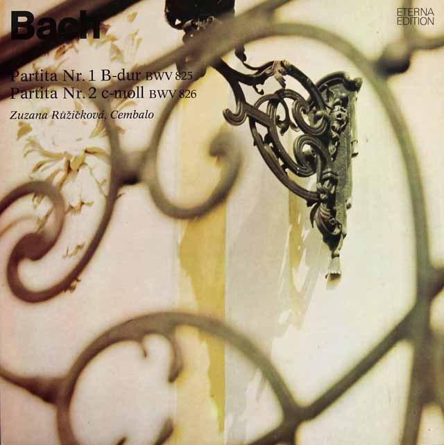 ルージチコヴァーのバッハ/パルティータ第1&2番 独ETERNA 3295 LP レコード