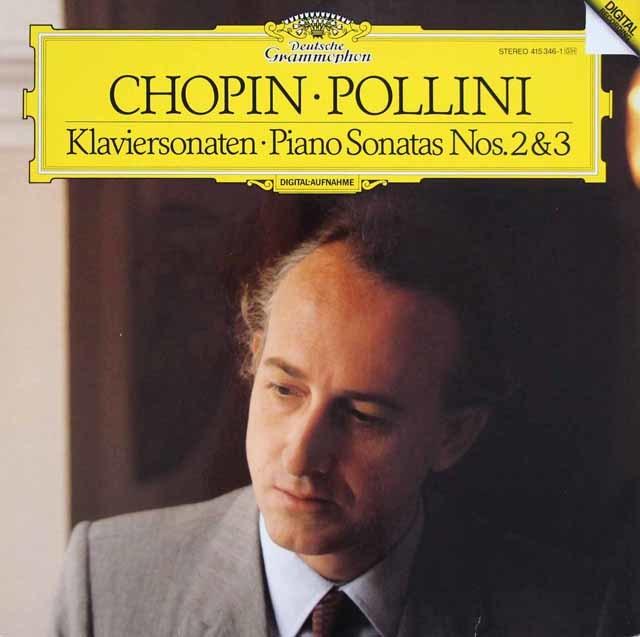 ポリーニのショパン/ピアノソナタ第2番「葬送行進曲付き」&第3番 独DGG 3035 LP レコード