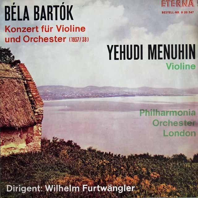 【テストプレス】 フルトヴェングラー&メニューインのバルトーク/ヴァイオリン協奏曲第2番 独ETERNA 3295 LP レコード