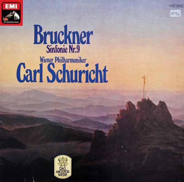 シューリヒトのブルックナー/交響曲第9番 独EMI 3017 LP レコード