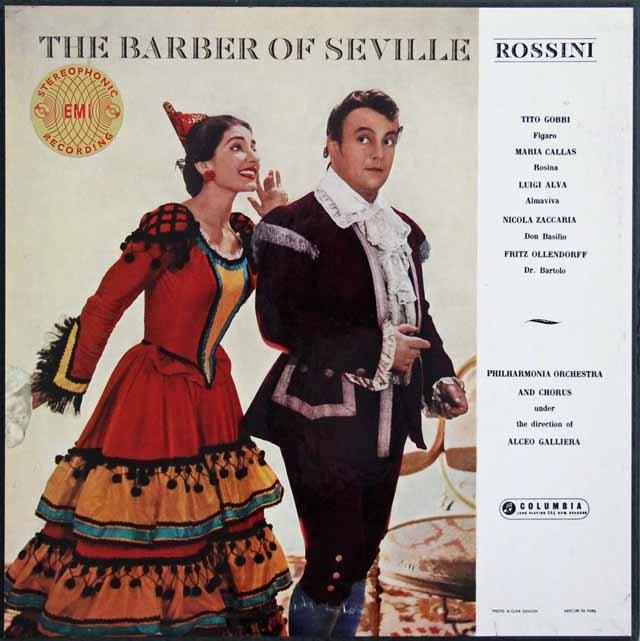 【オリジナル盤】カラス&ガリエラらのロッシーニ/「セビリアの理髪師」 英Columbia 2905 LP レコード