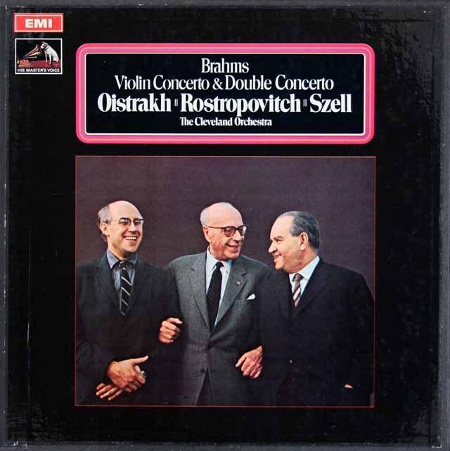 【オリジナル盤】オイストラフ、ロストロポーヴィチ&セルのブラームス/協奏曲集 英EMI 3017 LP レコード
