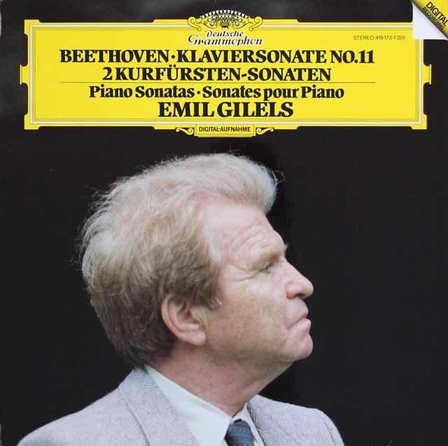 ギレリスのベートーヴェン/ピアノソナタ第11番ほか 独DGG 3035 LP レコード
