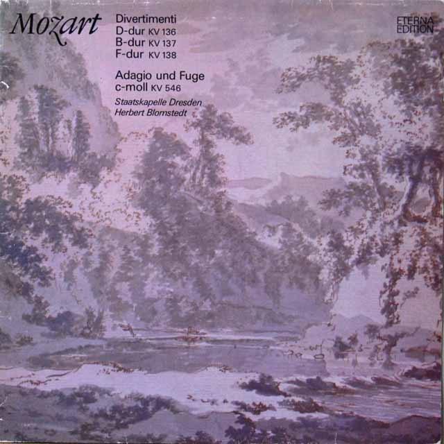 ブロムシュテットのモーツァルト/ディヴェルティメント集 独ETERNA  2705 LP レコード